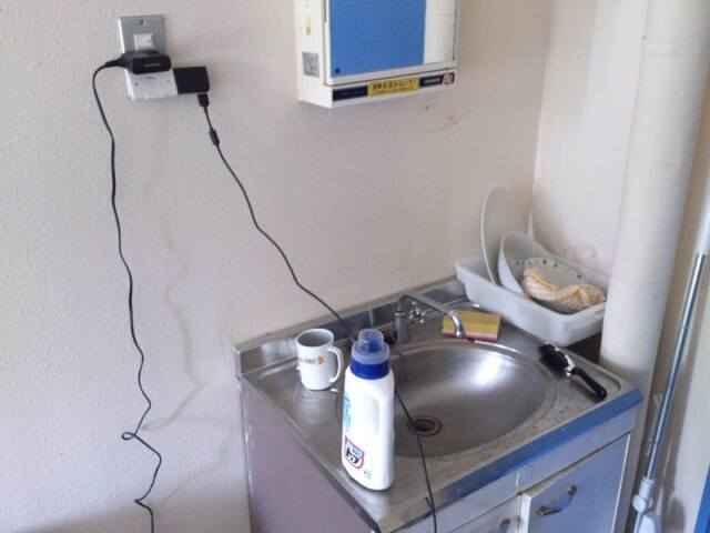 狭い洗面台